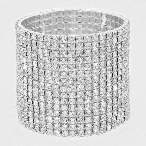 15 Row Rhinestone Stretch Bracelet-9237