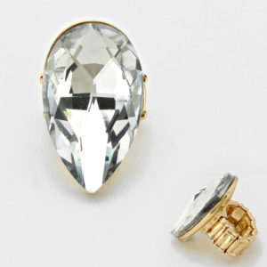 Diamond Stretch Ring Clear-Gold-7269