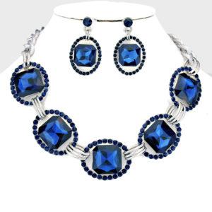 Link Rhinestone Necklace Set (3)