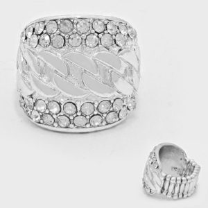 Pave Chunky Stretch Ring -8775