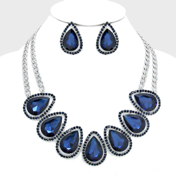 Teardrop Collar Necklace Set (2)