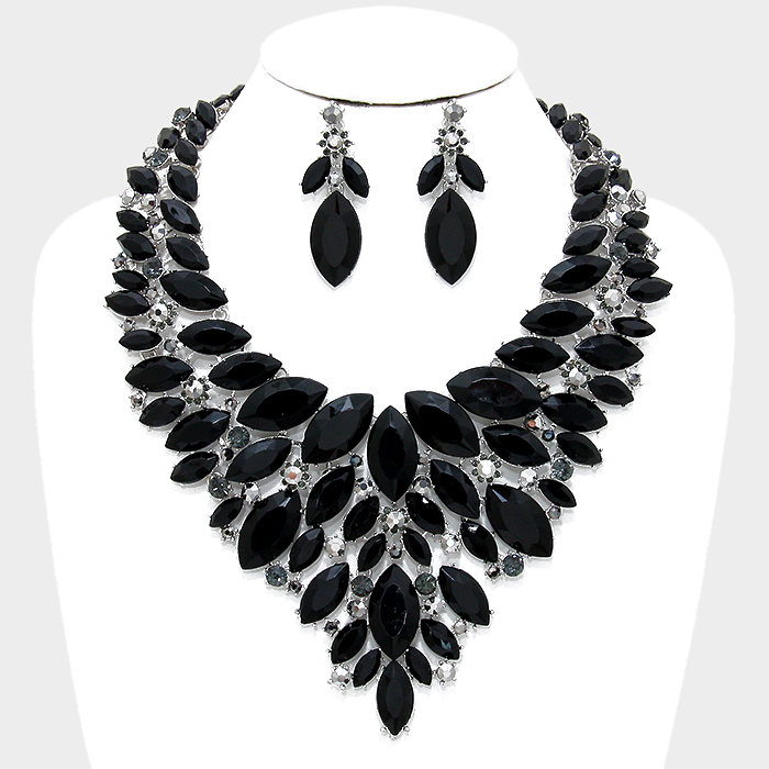 swallow products pixics bib lace grande necklace and
