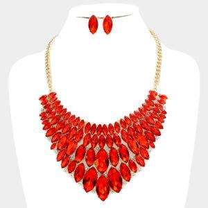Marquise Bib Set-1236-34.99-Red