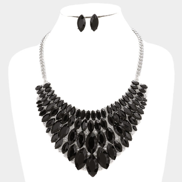 Marquise Bib Set-1238-34.99-Black