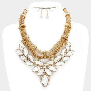 Statement Necklace Set-7909-34.99-Gold