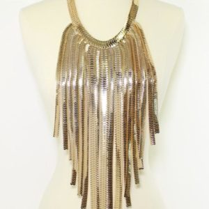 Cascade Body Necklace Set-Gold-3021-29.99