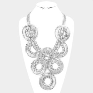 Twisted Chain Necklace Set-0326-34.99-Silver