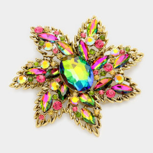 Floral Brooch-1614-Rainbow-14.99