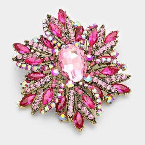 Floral Brooch-8667-Light Pink-14.99