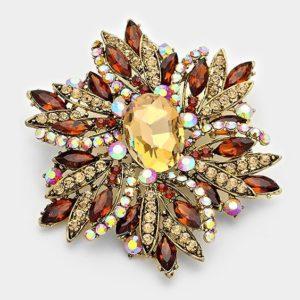 Floral Brooch-Brown-1041-14.99