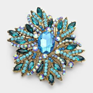 Floral Brooch-Turquoise-5432-14.99