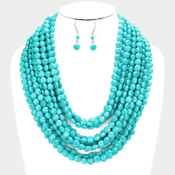 Round Beaded-6056 19.99-Turquoise