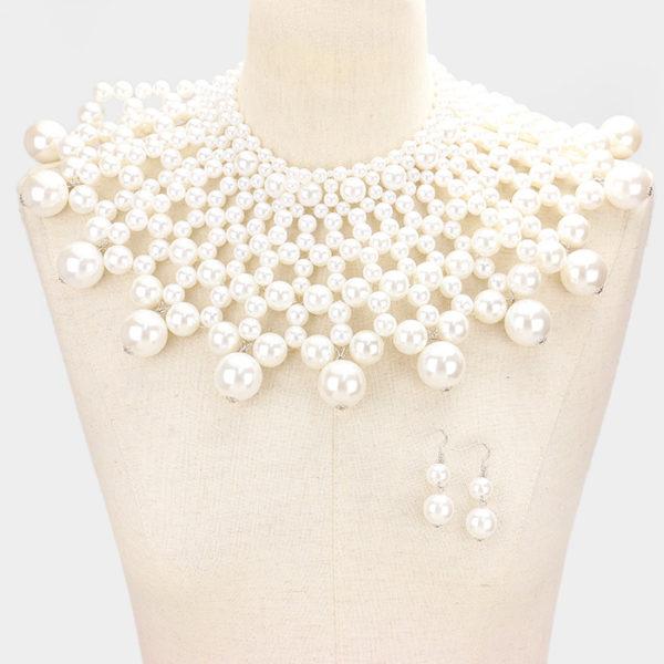 Pearl Choker-1654-White-39.99